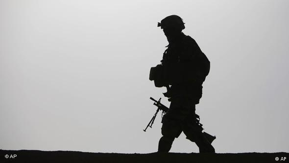 A soldier's silhouette