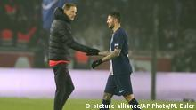 Fußball Frankreich PSG Trainer Thomas Tuchel und Mauro Icardi