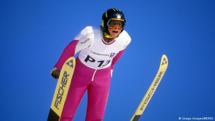 Winterspiele 1994 | Vorspringerin Eva Ganster (Imago Images/WEREK)