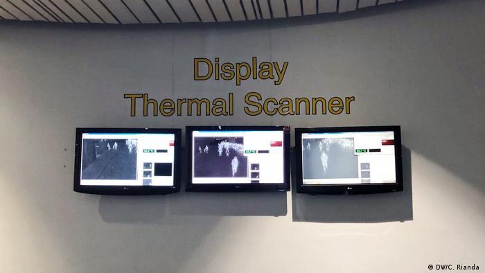 Display Thermal Scanner di Bandara Soetta