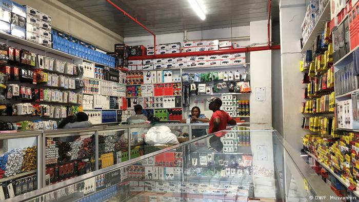 An electronic shop with traders