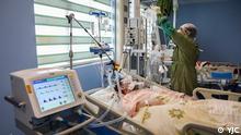 "Corona Infizierte in ""Forghani"" Krankenhaus in Ghom."