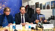 26.02.2020 Weißrussland - PK der Abgeordneter des Europaparlament in Minsk
