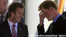 Süd Afrika Prinz Harry und David Beckham in Johannesburg