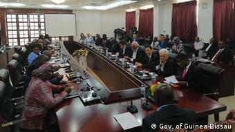 Ministerrat von Guinea-Bissau mit der Internationalen Gemeinschaft
