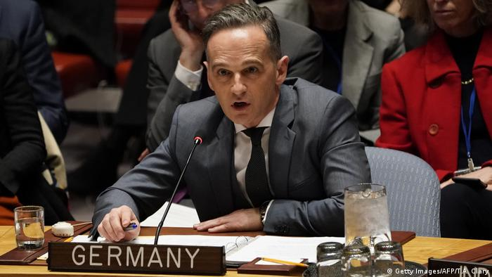 German Foreign Minister Heiko Mass at the UN Security council in February 2020 (Getty Images/AFP/T.A. Clary)