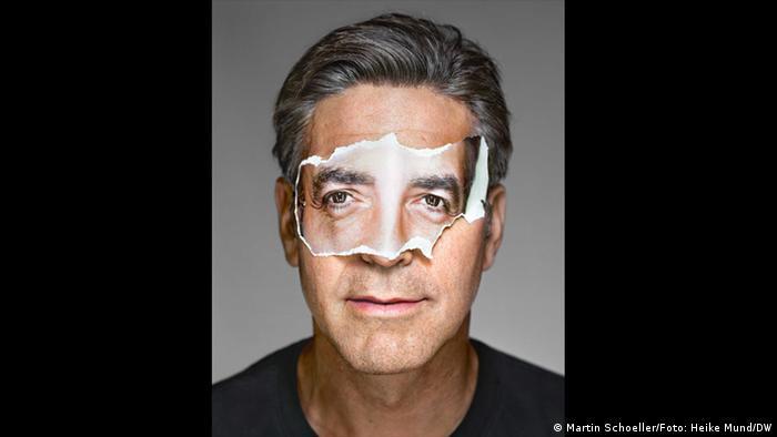 George Clooney portrait by Martin Schoeller (Martin Schoeller/Foto: Heike Mund/DW)