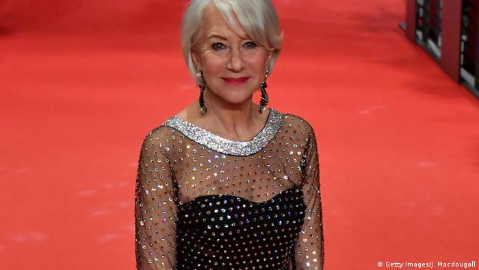 British actress Helen Mirren arrives on the red carpet (Getty Images/J. Macdougall)