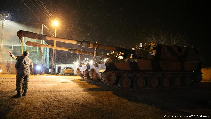 A convoy of Turkish Armed Forces' including commandos and howitzers arrive in Hatay province of Turkey to being deployed to to observation points in Syria's Idlib
