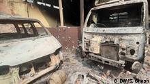 27.02.2020 Zerstörung nach den gewaltsamen Protesten in Neu Delhi seit Montag 24.02.2020