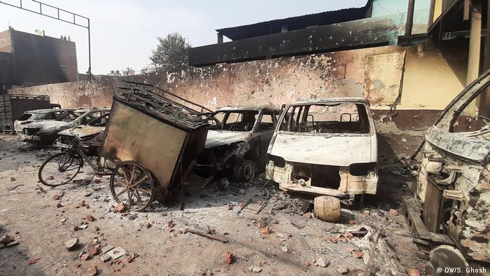 Indien Neu Delhi   Zerstörung nach den Unruhen durch Proteste wegen Staatsbürgerschaftsgesetz