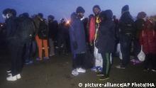 Türkei Edirne Flüchtlinge auf dem Weg zur Grenze mit Griechenland