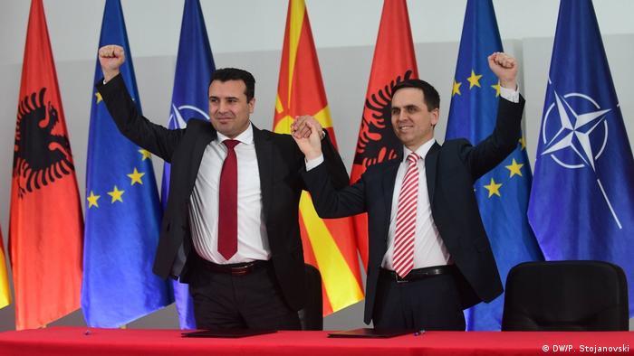 Wahl Koalition in Nord Mazedonien | Zoran Zaev und Bilal Kasami