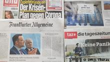 Zeitungen Corona