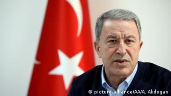 Türkei Hatay Verteidigungsminister Hulusi Akar (picture-alliance/AA/A. Akdogan)
