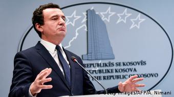 Kosovo Premierminister Albin Kurti PK in Pristina (Getty Images/AFP/A. Nimani)