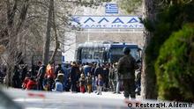 Türkei Edirne Flüchtlinge im Niemandsland an der Grenze zu Griechenland