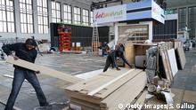 Deutschland Berlin Aufbau ITB trotz Coronavirus