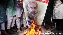 Tausende bangladeschische Muslime protestieren gegen Gewalt in Indien