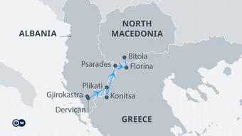 Karte Minderheiten Süd Balkan EN