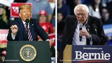 Bildkombo Donald Trump und Bernie Sanders
