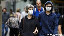 February 27, 2020, Sao Paulo, SP, Brazil: One day after COVID-19 case confirmation on Brazil, people leave to streets using protection masks in the Sao Paulo city. Sao Paulo Brazil PUBLICATIONxINxGERxSUIxAUTxONLY - ZUMAc168 20200227zapc168002 Copyright: xMarceloxChellox