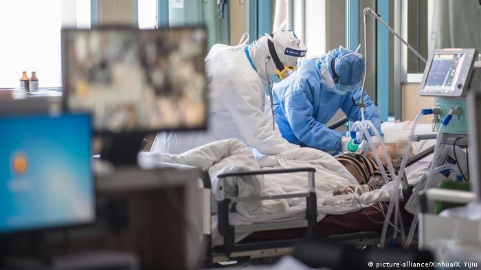 Палата интенсивной терапии в больнице в Ухане