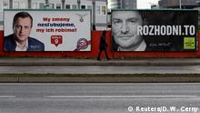 Election placards in Bratislava (Reuters/D. W. Cerny)