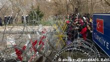 Türkei Edirne Ausschreitungen an Grenzübergang zu Griechenland