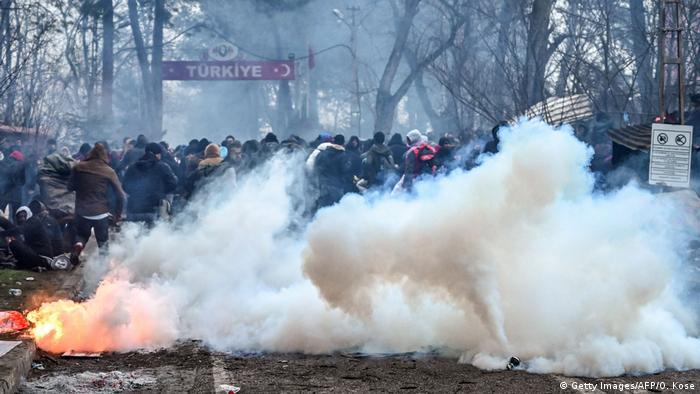 Türkei Ausschreitungen am Grenzübergang Pazarkule zu Griechenland