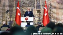Türkei Istanbul Rede Präsident Recep Tayyip Erdogan