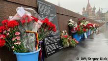 Russland Moskau Gedenken an Oppositionsführer Boris Nemzow