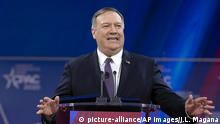 28.02.2020 *** Secretary of State Mike Pompeo speaks during Conservative Political Action Conference, CPAC 2020, at the National Harbor, in Oxon Hill, Md., Friday, Feb. 28, 2020. (AP Photo/Jose Luis Magana) |