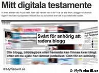 فكرة جديدة  تكمن وارء موقع وصيتي الالكترونية السويدي