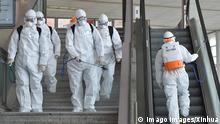 Coronavirus in Südkorea Daegu Desinfektion