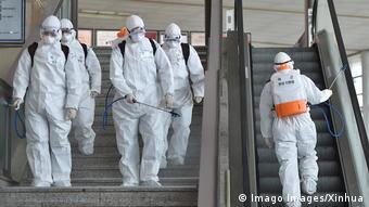 В Южной Корее дезинфекция в общественных местах - одна из мер защиты от коронавируса