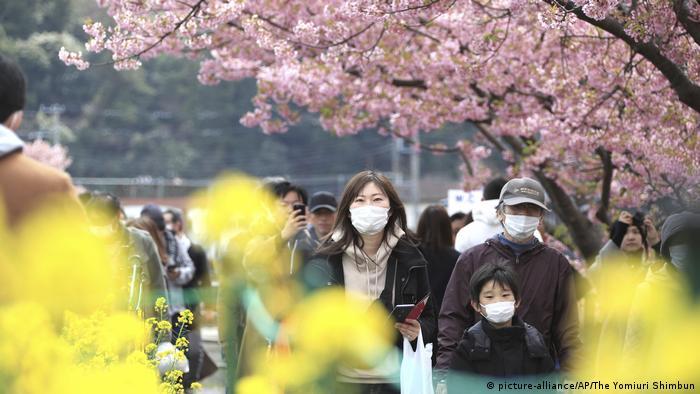 Coronavirus in Japan Kawazu Kirschblüte