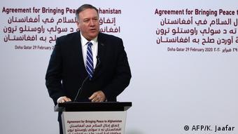 Katar US-Außenminister Mike Pompeo zur Unterzeichnung Abkommen mit Taliban
