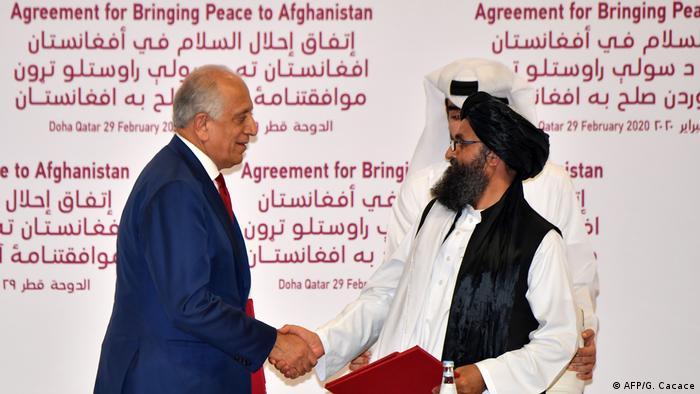 Katar Unterzeichnung Abkommen USA mit Taliban (AFP/G. Cacace)