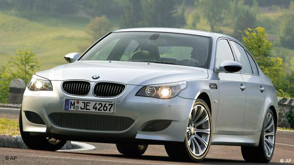 The new BMW M5 is seen on a photo released by BMW in July 2004. The new model is equipped with a 5-litre 10-cylindre engine with 507 horsepower. (AP Photo/BMW) ** EDITORIAL USE ONLY **