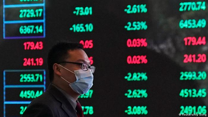 Coronavirus in China Shanghai Stock Exchange fallende Aktienkurse (Reuters/Aly Song)