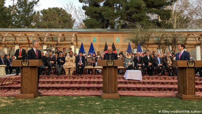 Afghanistan Kabul | Jens Stoltenberg, NATO & Aschraf Ghani, Präsident & Mark Esper, USA
