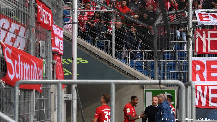 Bayern Munich fans react to protests against Hopp