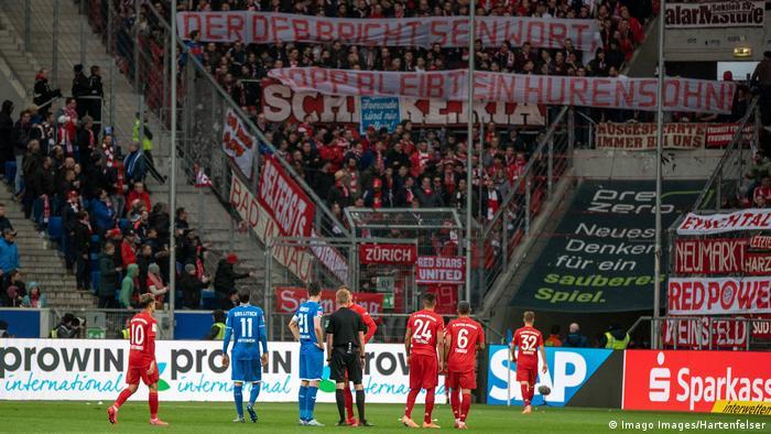 EINSCHRÄNKUNG | Fußball Bundesliga | TSG 1899 Hoffenheim vs. FC Bayern München | Spielunterbrechung Beleidigung Hopp