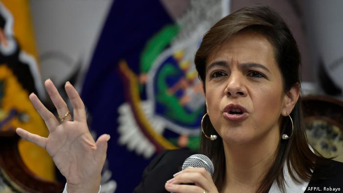 Ecuador Innenministerin Maria Paula Romo