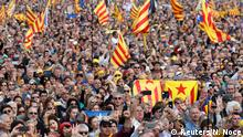 29.02.2020 *** Catalan separatist supporters hold Esteladas (Catalan separatist flags) during a rally in Perpignan, France February 29, 2020. REUTERS/Nacho Doce