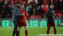 Soccer Football - Premier League - Watford v Liverpool - Vicarage Road, Watford, Britain - February 29, 2020 Liverpool manager Juergen Klopp and Andrew Robertson look dejected at the end of the match REUTERS/David Klein EDITORIAL USE ONLY. No use with unauthorized audio, video, data, fixture lists, club/league logos or live services. Online in-match use limited to 75 images, no video emulation. No use in betting, games or single club/league/player publications. Please contact your account representative for further details.