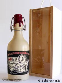 A wax-tipped bottle of Schorschbock 40
