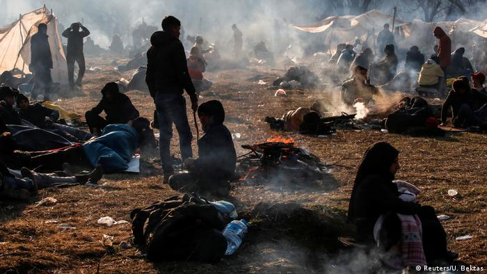 پناهجویان در مرز ترکیه و یونان در وضعیت غیر انسانی به سر میبرند