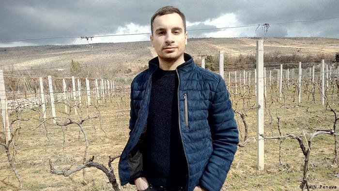 Antonio Matić u svom vinogradu